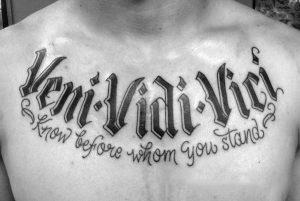 tekst tattoo veni